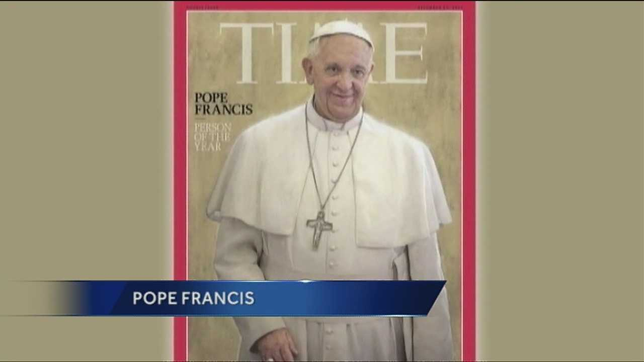 Pope Francis has been named the Time magazine person of the year.