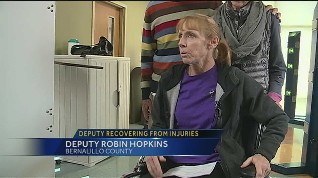 We hear directly from the injured deputy about her injury and her courageous road to recovery.