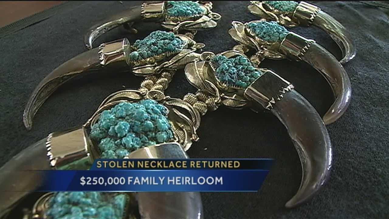 Stolen Necklace Returned