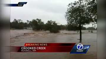 VIDEO: Rain slams Roswell, N.M. |Rain is started to lighten up in southern New Mexico, but the damage is already done according to Eric Green.