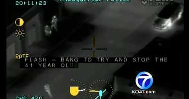 VIDEO:Infrared video details recent police shooting | Action 7 News has obtained the footage that shows the violent end of a SWAT situation in Albuquerque that lasted for several hours.