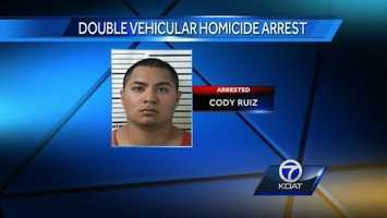 VIDEO:Man walks back to party after DUI crash kills two |Cody Ruiz was arrested Monday in connection to a car accident that killed a brother and sister in Lovington.
