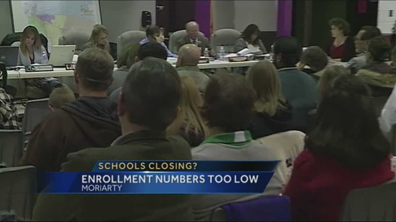 The debate over whether two elementary schools in the Moriarty-Edgewood school district will be closed next school year continues tonight.