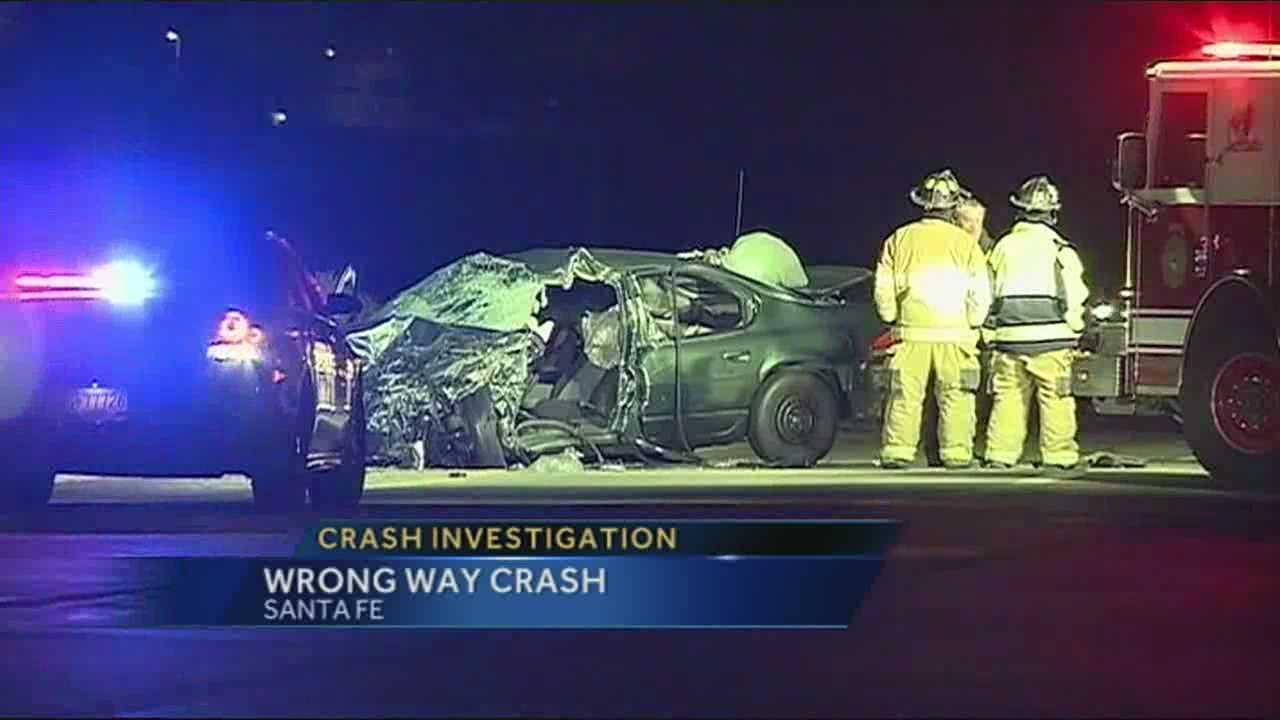 1 critical after wrong-way crash