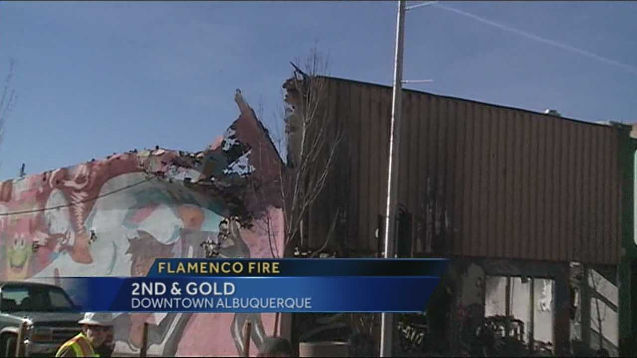 Fire devastates Flamenco Building in downtown ABQ