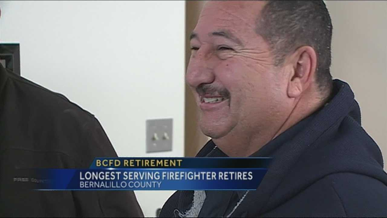 A Bernalillo County firefighter is retiring after more than 25 years -- longer than anyone else in the department's history.
