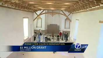 10) Of course there was that time Conrad Hilton's (of hotel fame) foundation donated $1 million to save the NM church he was baptized in