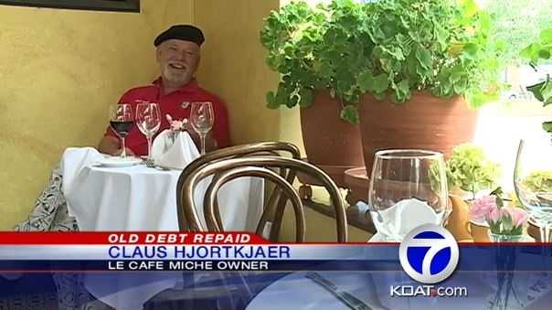 2) How about when that customer at an Albuquerque French restaurantcame back to settle a debt nearly 15 years after he couldn't afford to pay a Valentine's Day check?
