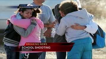 "Gov. Martinez: ""I am asking that all New Mexicans please keep these two children in your prayers. We have a 12-year old and a 13-year-old who were shot while simply sitting in their gym waiting to go to class. One of them is in surgery. Please don't forget that this community is a strong community. They will pull together."""