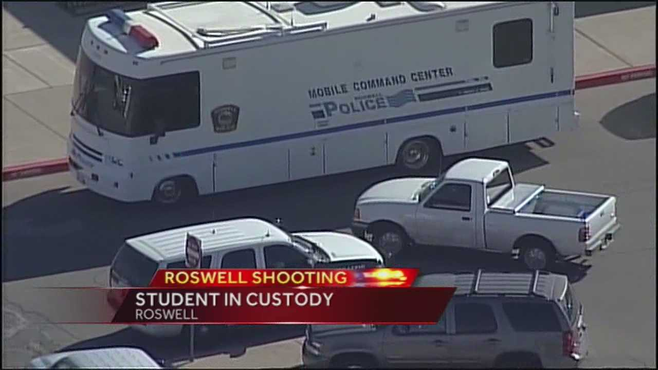 New Mexico State Police said a student opened fire with a shotgun in the Berrendo Middle School gym Tuesday morning, seriously injuring two other students.