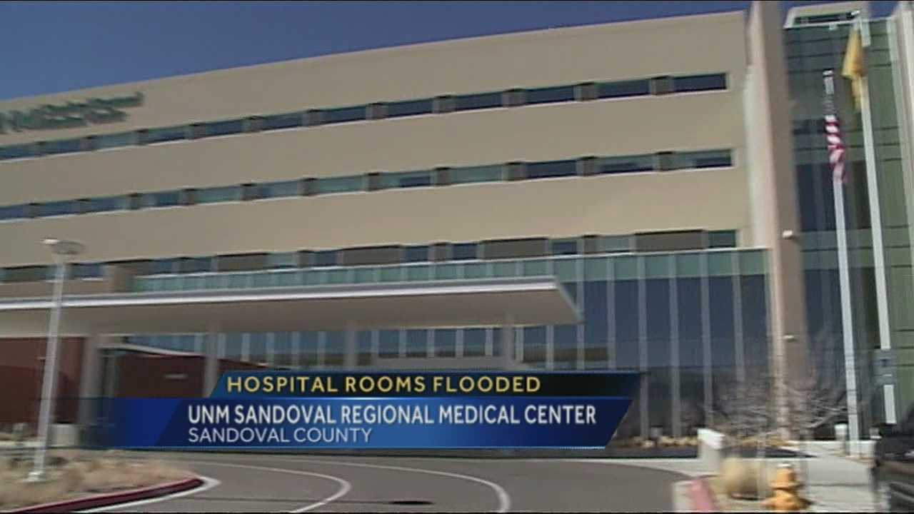 Broken sprinkler floods UNM Sandoval Regional Medical Center