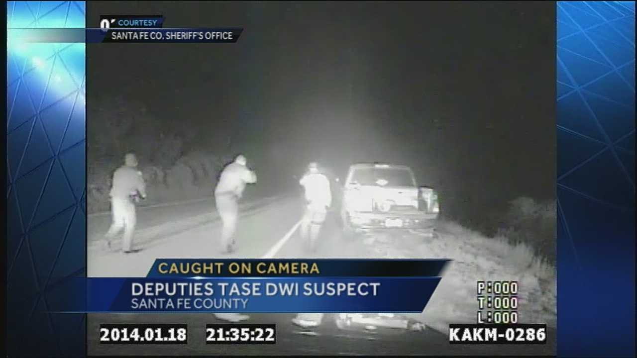 Video: Man tased after standoff with police