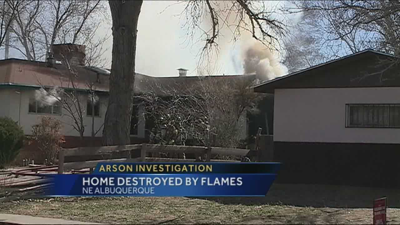 Tonight investigators are looking into what caused a fire in an empty house in Northeast Albuquerque.