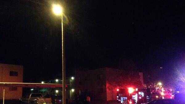 Figueroa Street apt fire