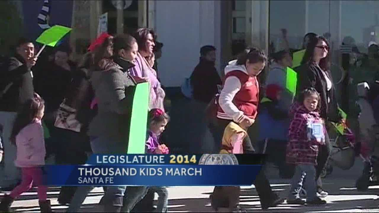Hundreds of children and parents rallied outside the Roundhouse in support of early childhood education Tuesday.