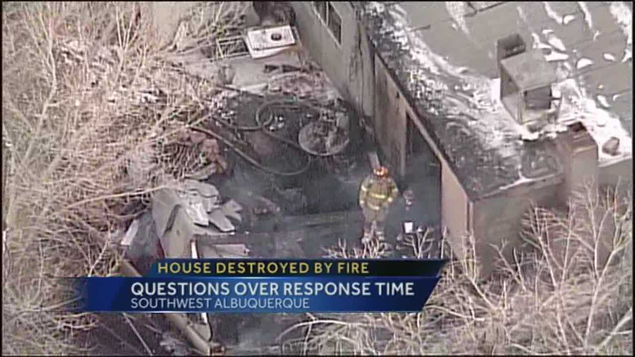 A woman blames a slow response from firefighters for the destruction of her home.