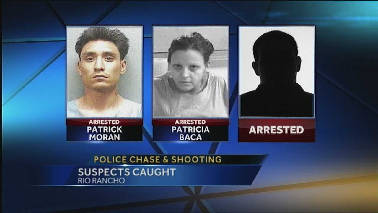 Three suspected bank robbers are facing several charges after allegedly firing at police during a chase that ended with one of the suspects trying to carjack a teen.