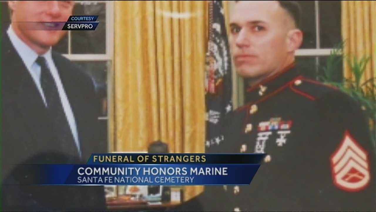 Strangers make sure Marine's life is celebrated