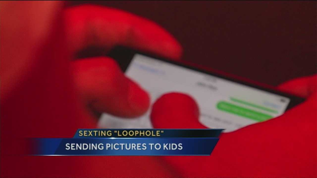 There's a law in New Mexico about sending obscene images or texts to a child but police say it has a big loophole.