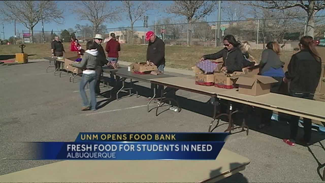 Many UNM students don't have a lot of money to spend on food, but now they don't have to rely on ramen.