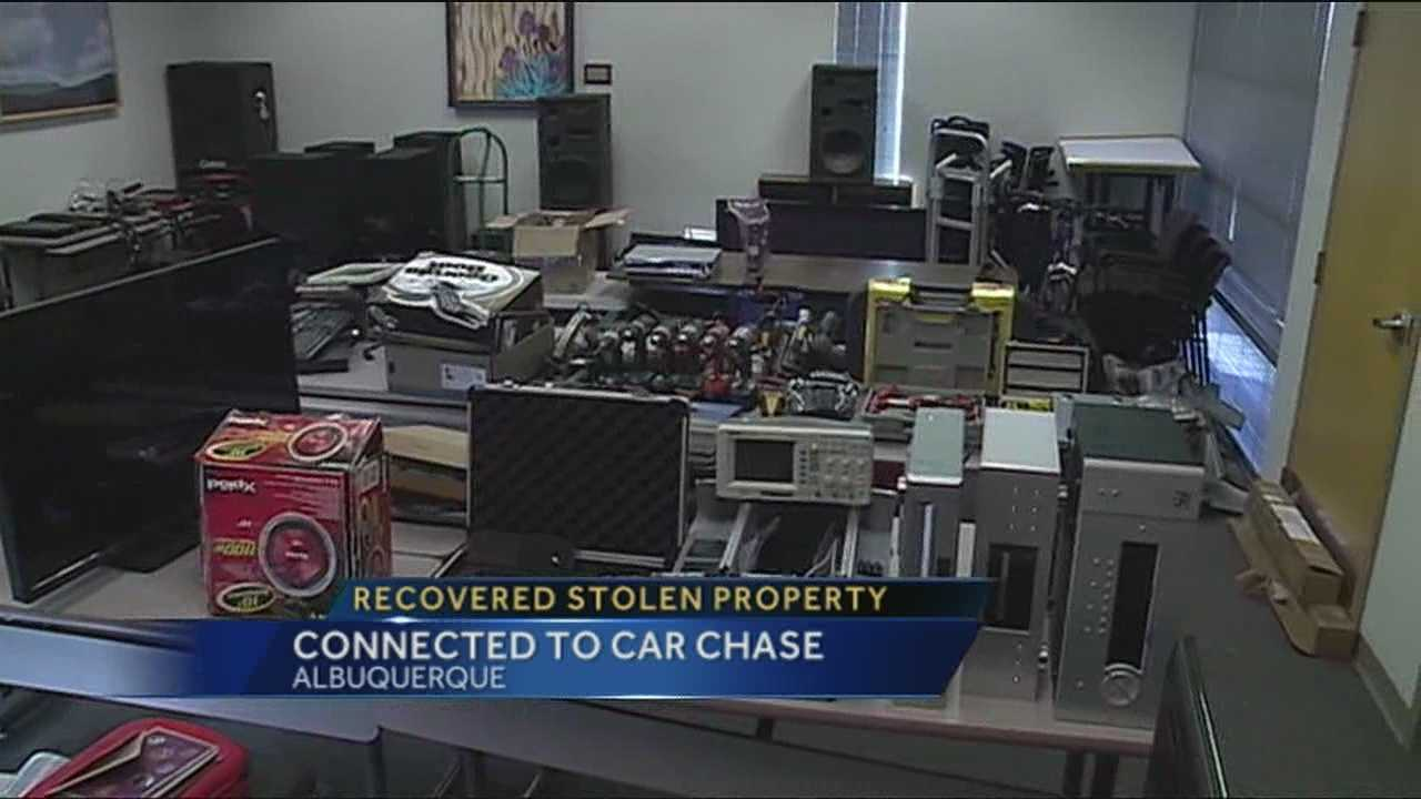New images tonight of stolen property recovered after a high speed chase in the metro area.