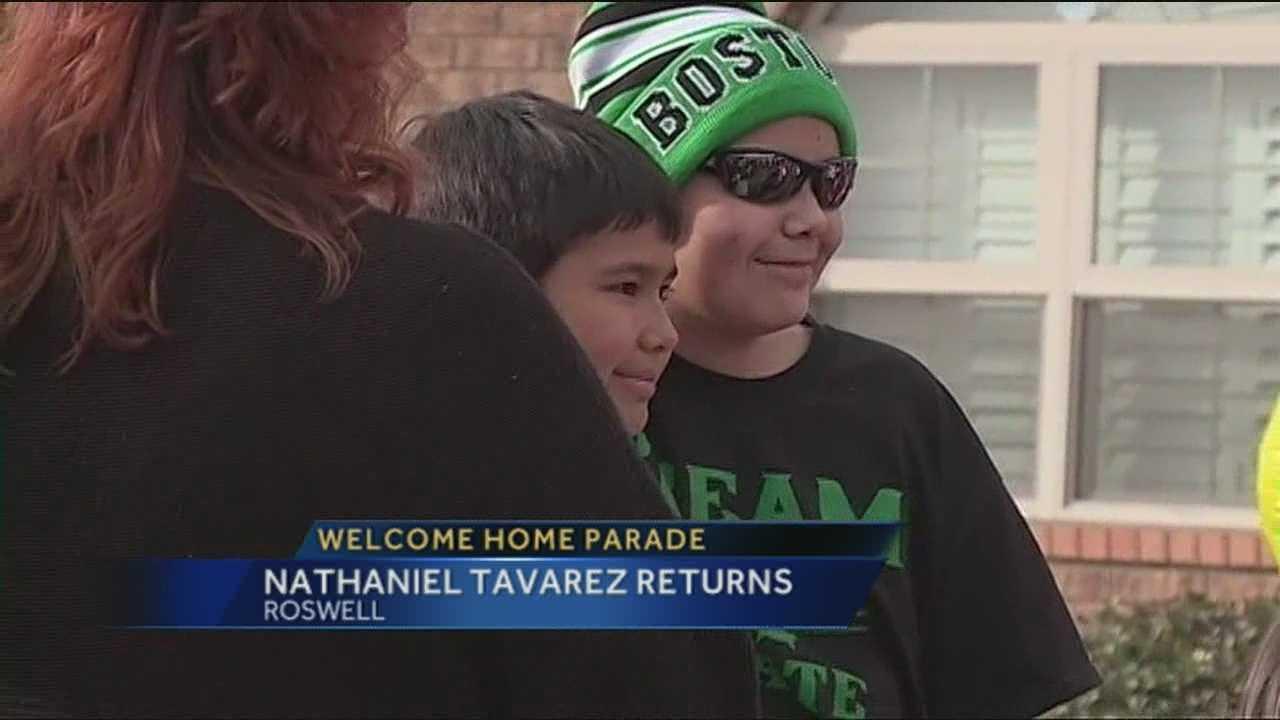 Nathaniel returns home