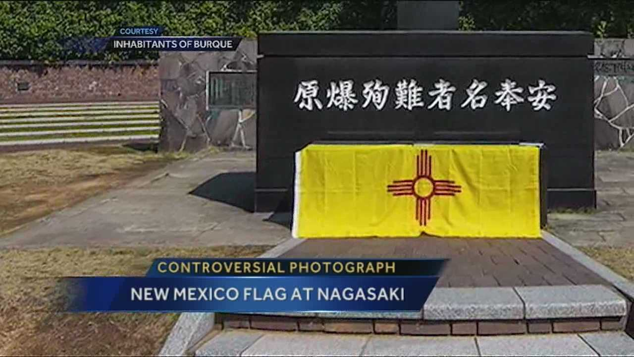 A photo of the New Mexico flag draped over a sacred spot is stirring up controversy.