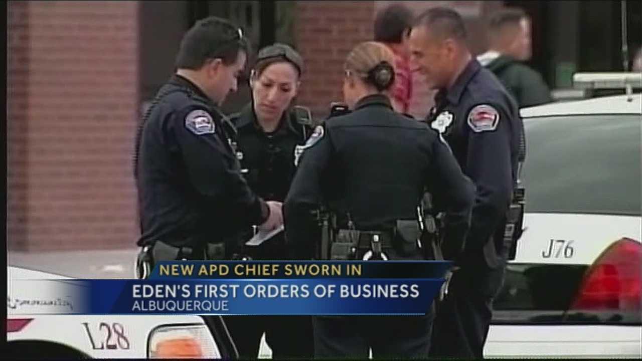 Gorden Eden sworn in as APD's top cop