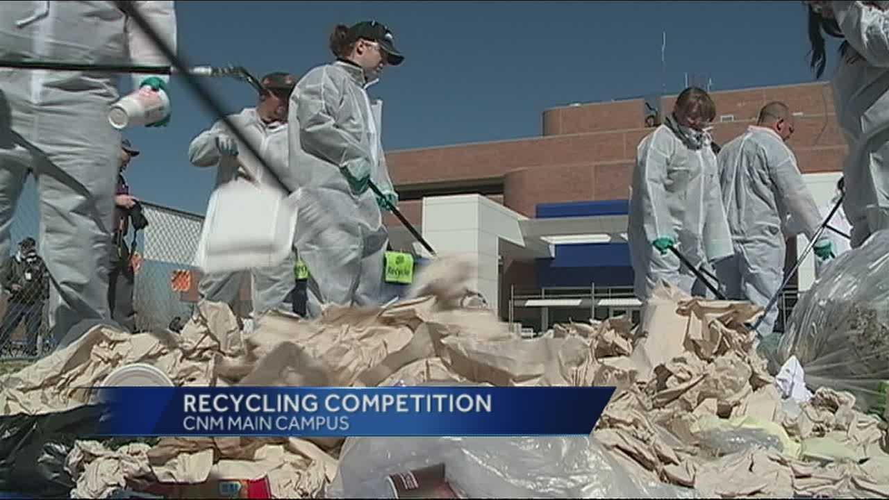 Students at Central New Mexico Community College may have noticed a large pile of garbage in the middle of campus Wednesday.