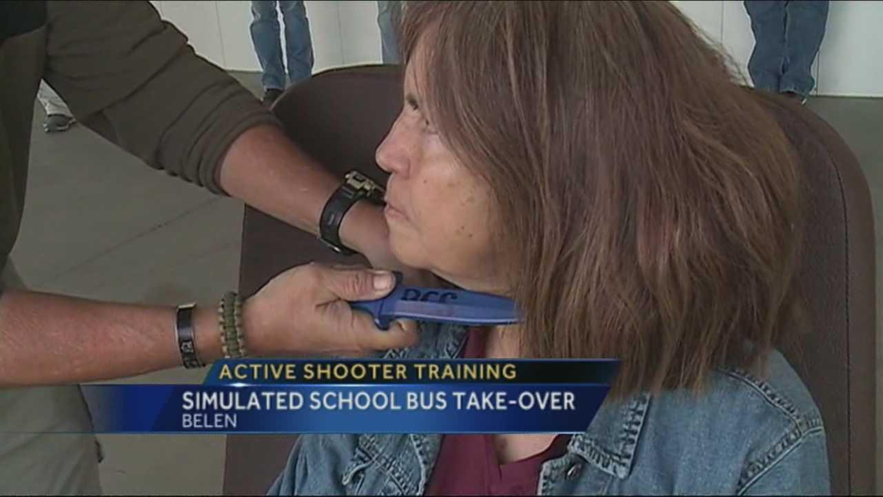 Belen Schools bus drivers get active shooter training