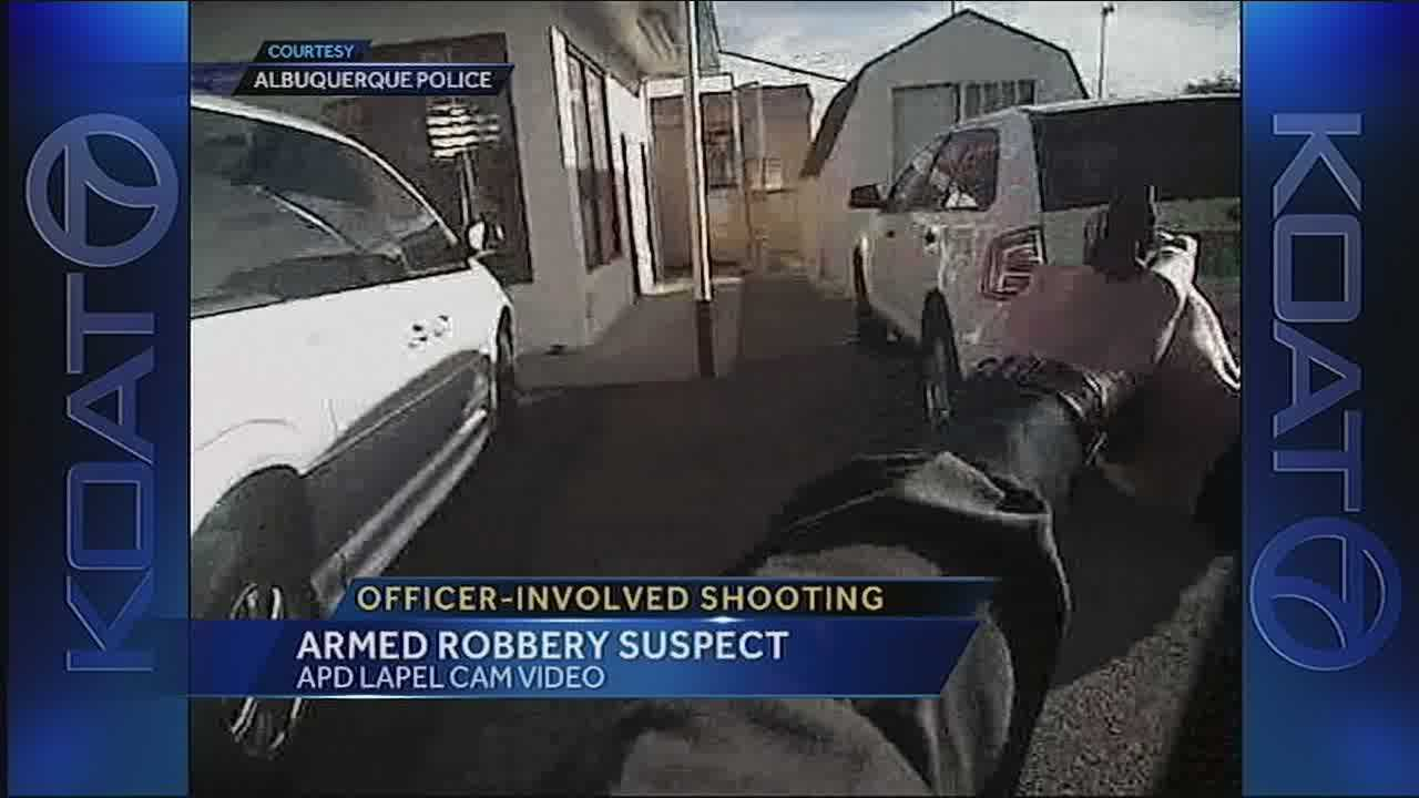 Dramatic video just released an officer involved shooting of a man who police say robbed a grandmother and her grandson
