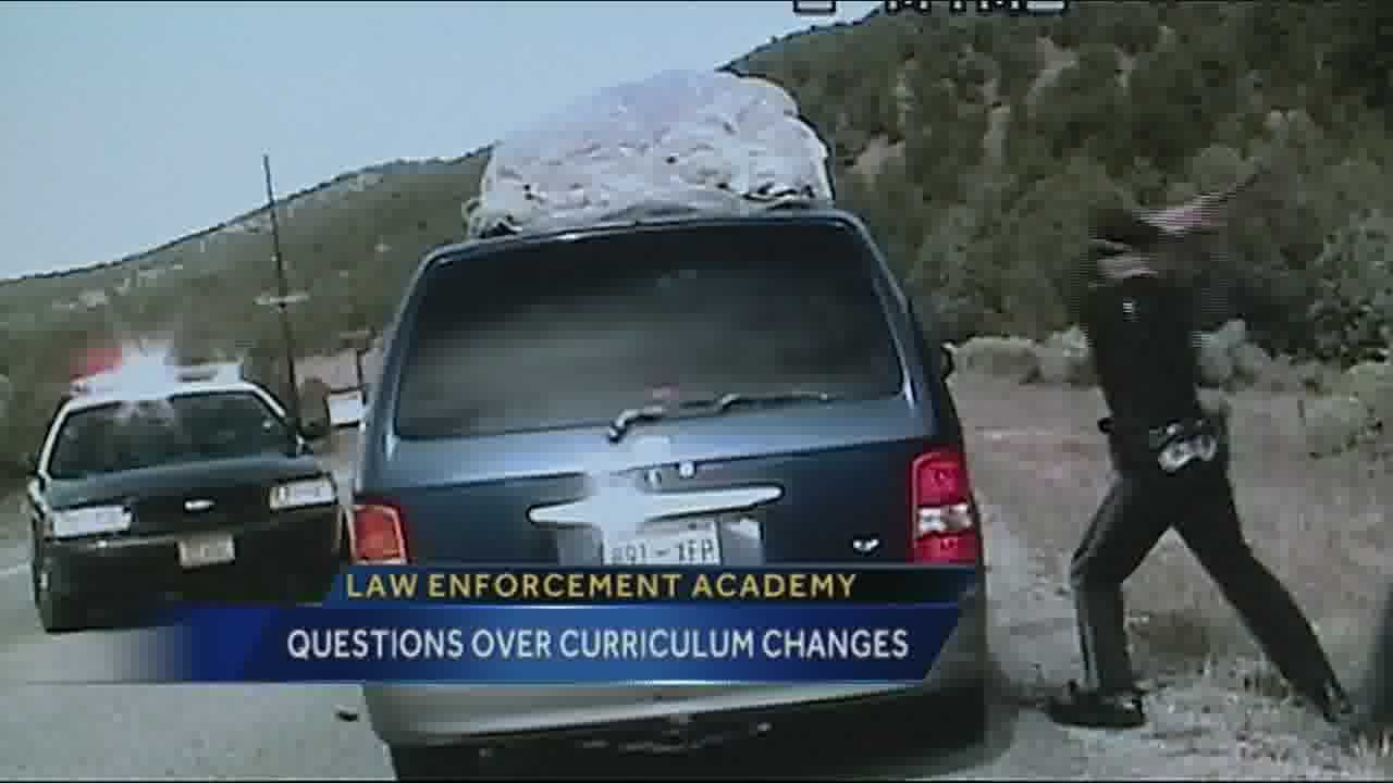 Tonight, new concerns over what's being taught to candidates at the police academy.