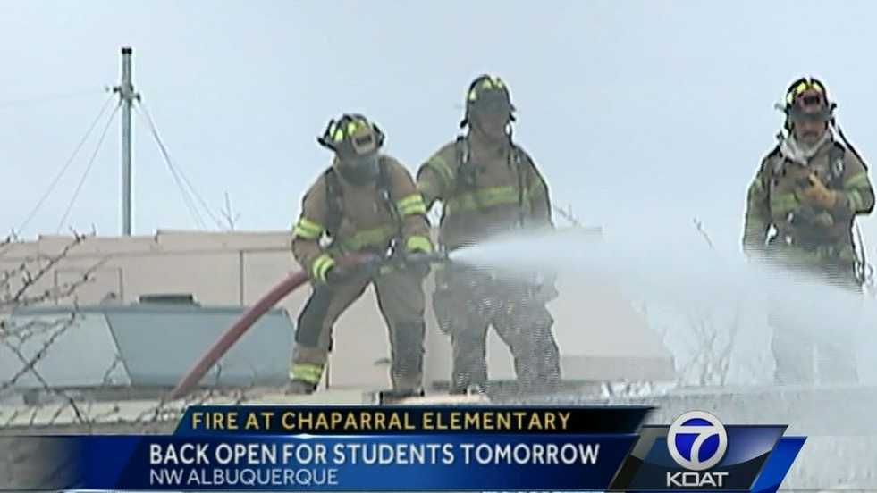 Chaparral Elementary Fire