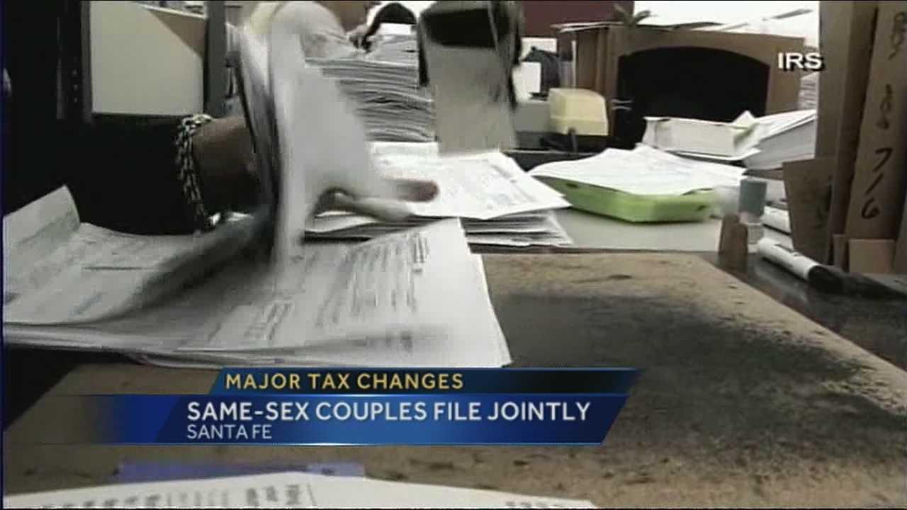 Another big change for same-sex couples when it comes to taxes.
