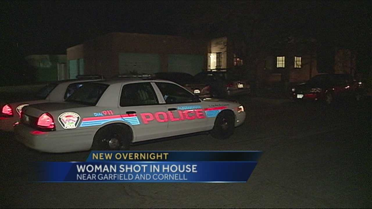 A woman is sent to the hospital after being shot in the stomach during a domestic dispute