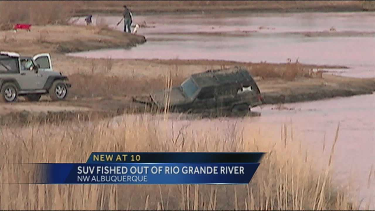 Crews had to fish an SUV out of the Rio Grande over the weekend.