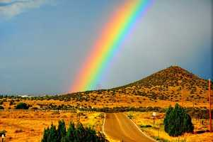 Over the RainbowDriving to Santa Fe on I-25 North.