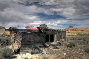 Years gone byOld structure with Cabezon on background.