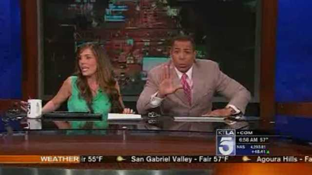 TV anchors feel earthquake on air