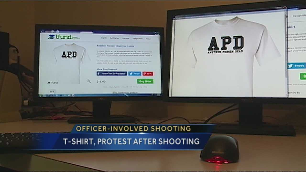 The public's mounting backlash against the Albuquerque Police Department's use-of-force tactics will reach a pinnacle Tuesday in the form of a downtown protest -- they've even made T-shirts.