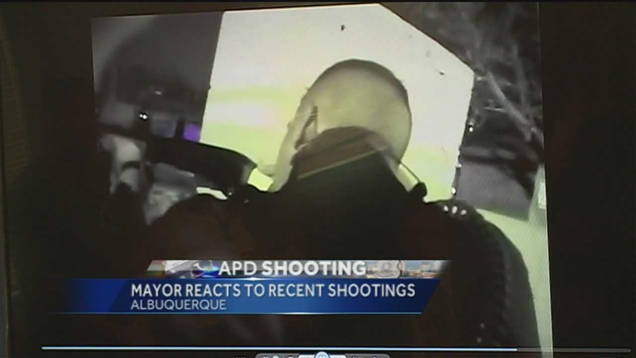 Albuquerque's mayor weighs in on the recent shootings.