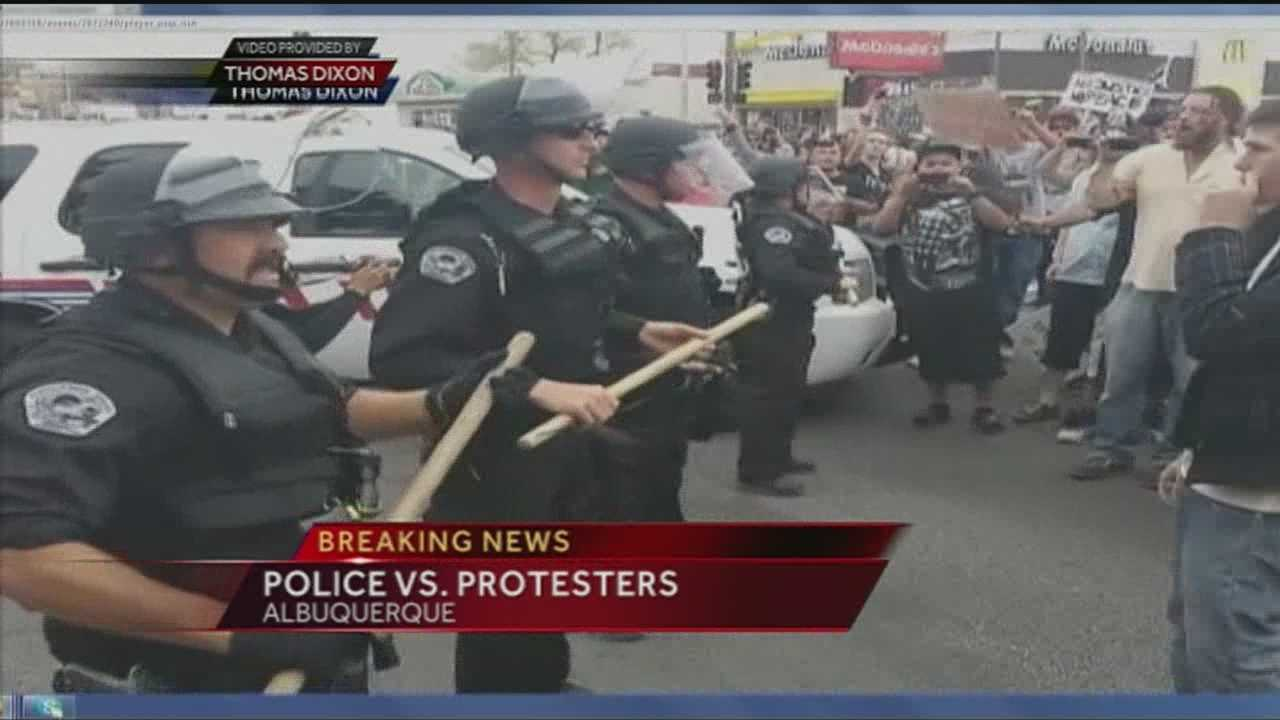 Protesters live streamed much of Sunday's event