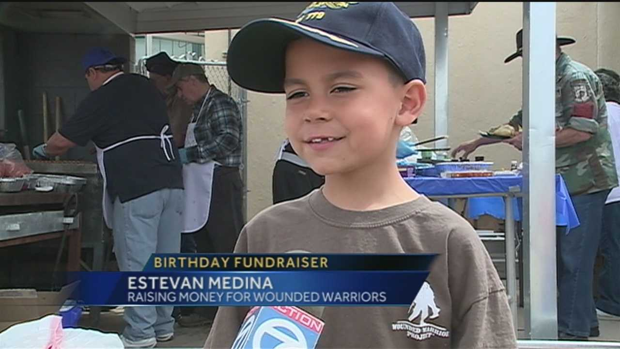 A selfless Albuquerque boy raised more than $4,000 for wounded veterans over the weekend.