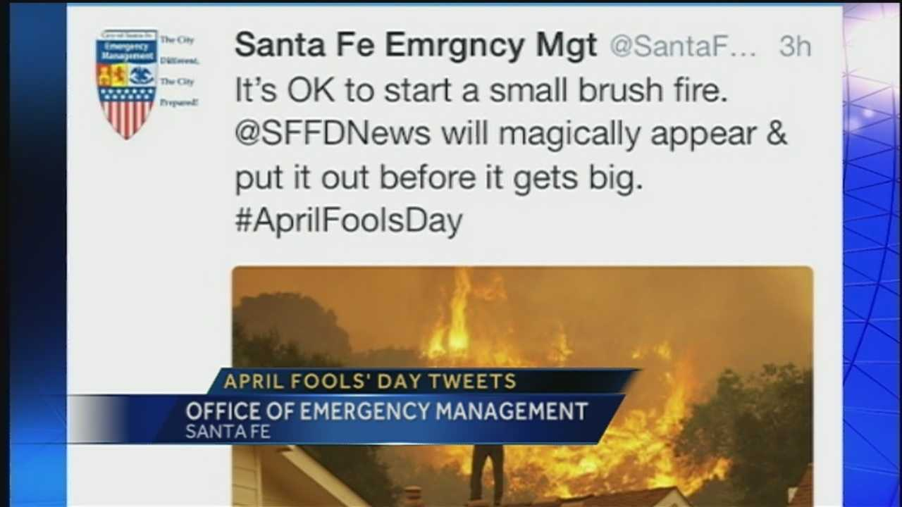 It's April Fool's Day, and Santa Fe Emergency Management's social media team is taking advantage of the holiday in an unorthodox way.