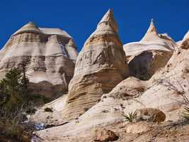 """Majestic peaks at Tent Rocks, NM"""