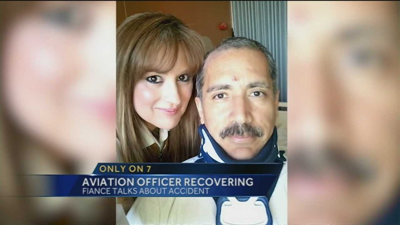 An update on an Albuquerque Aviation Officer who was severely injured in a car crash.
