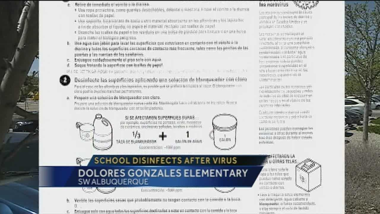 Dolores Gonzales Elem. undergoes disinfection