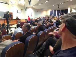 One man used his public comment time to hold a 2-minute moment of silence. He asked councilors to think about ethical obligations.