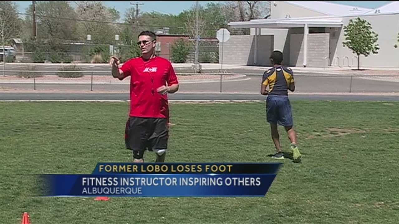 A former UNM football player was hit by something he never saw coming.