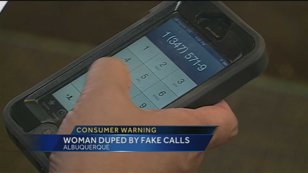 A warning from an Albuquerque women who claims she was scammed.